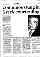 Cominos stung in greek court ruling