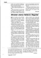 Minister slams Hellenic Regiser